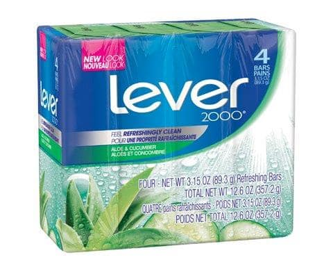 Lever 2000 Bar Soap - Aloe & Cucumber scent